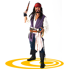Аниматоры Пираты и Джек Воробей онлайн