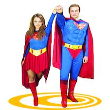 Аниматоры Супермен и супергёл онлайн