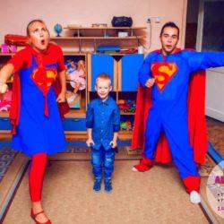 аниматор Супермен и Супергел день рождения