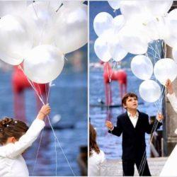 белые воздушные шары на праздник