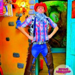 детский праздник и ковбои