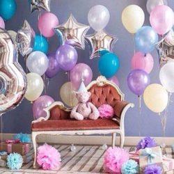 фольгированная цифра на день рождения ребёнка