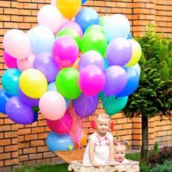 корзина с воздушными шарами