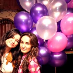 шары металлик фиолетовые и розовые воздушные шары