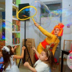 шоу мыльных пузырей Москва