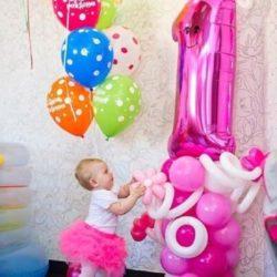 цифра из шаров на день рождения ребёнку