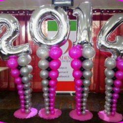 воздушные шары - цифры 2017 и 2018