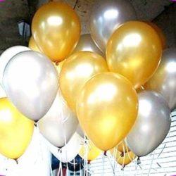 золото и серебро воздушные шары