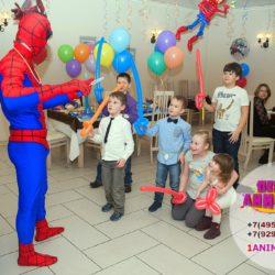 аниматор человек - паук на праздник