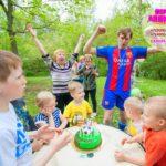 аниматор футболист на детский праздник