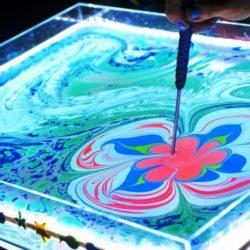 рисование на воде на праздник