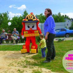 ростовая кукла робокар Полли на праздник