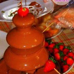 шоколадный фонтан детям на праздник