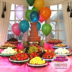 шоколадный фонтан на детский день рождение
