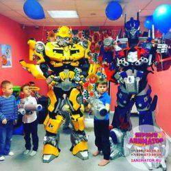 шоу роботов - трансформеров на праздник в школу