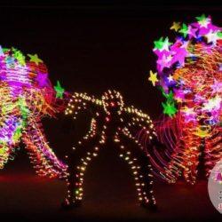 световое шоу на праздник