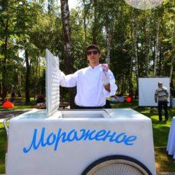 тележка с мороженым на праздник в Москве