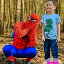 аниматор - человек - паук на праздник ребёнку