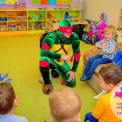 аниматор черепашка - ниндзя в детский сад