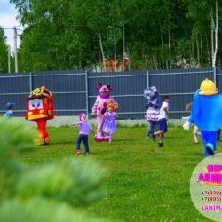аниматор робокар Полли на детский день рождения
