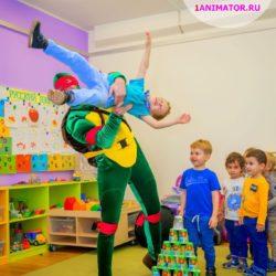 детский аниматор - черепашка - ниндзя