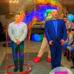 шоу мыльных пузырей на праздник без погружения