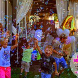 шоу мыльных пузырей на праздник с погружением