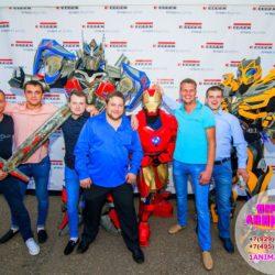 шоу роботов - трансформеров Москва