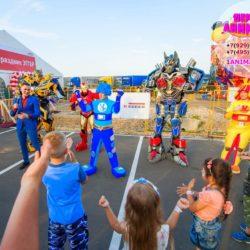 шоу роботов - трансформеров на день рождения