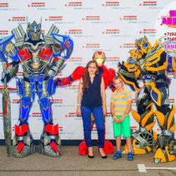 шоу роботов - трансформеров на день рождения ребенка