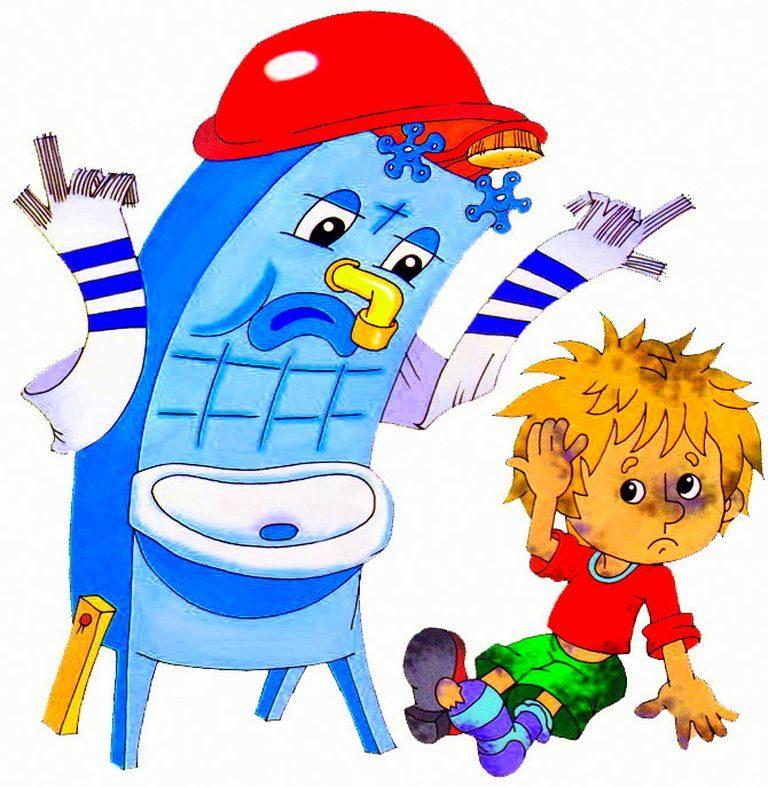 Картинка с мойдодыром для детей, поздравлением