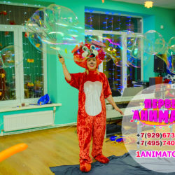 детские аниматоры том и джерри и шоу мыльных пузырей
