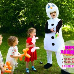 аниматор Снеговик на детский праздник
