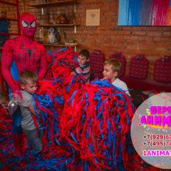 аниматор человек паук на детский праздник