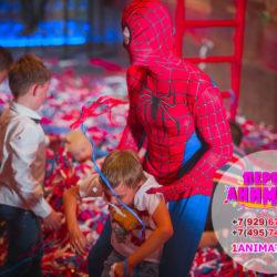 аниматор человек паук на детский день рождения + бумажное шоу