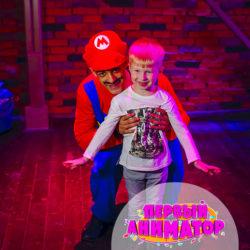 детский аниматор Марио на день рождения ребенка