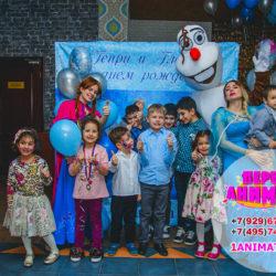 детский аниматор Снеговик на день рождения ребенка