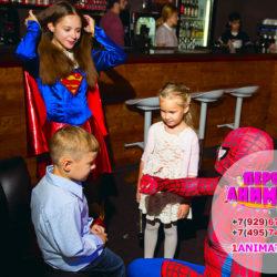 аниматоры супермен и супергерл на день рождения
