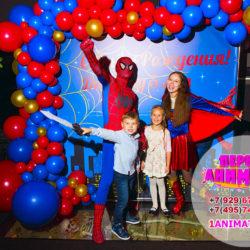 аниматоры супермен и супергерл, человек паук на день рождения ребенка