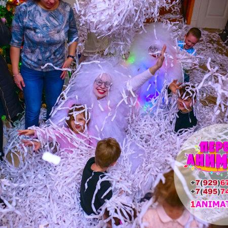 бумажное шоу на детский день рождения