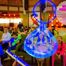 неоновое мыльное шоу для детей