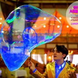 неоновое шоу мыльных пузырей на выпускной в детский сад