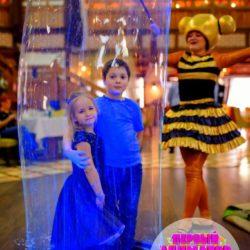 неоновое мыльное шоу на детский праздник