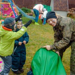 Военный спецназ на детском празднике