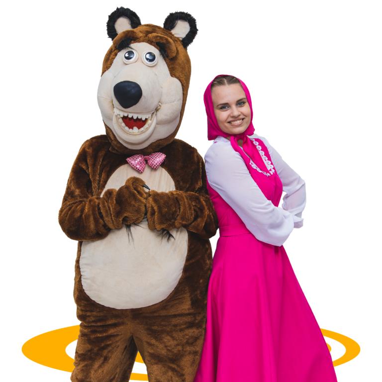 Аниматоры Маша и медведь онлайн