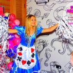 Праздник у Лизы в 10 лет бумажная дискотека