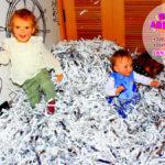 бумажная дискотека на празднике и Лизы