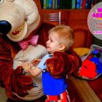Маша и Медведь на день рождения к Диме