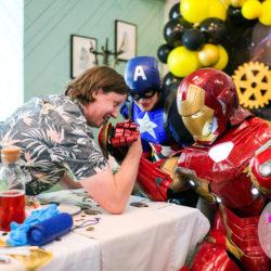 Аниматоры Капитан Америка и Железный человек на праздник