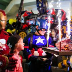 Аниматор Капитан Америка на день рождения
